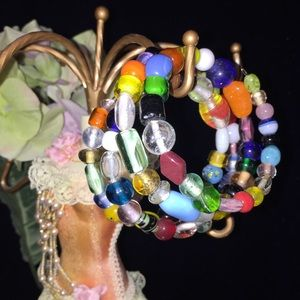 Jewelry - Handmade spiral bracelet, multicolored